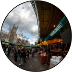 Southwark Cathedral from Borough Market © Samuel Mather Photography